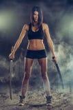Vengeance de femme avec l'épée Images stock