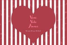 Veni Vidi Amavi Fotografia de Stock