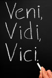 Veni, Vidi, Vici Stock Photography