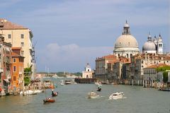 Venice. Grand canal in venice Stock Photos