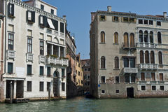 Venice. Boat trip on the canal grande to saint marcus square stock image