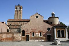 Venice. St. Giacomo Dall'Orio church in Venice, Italy Royalty Free Stock Photos