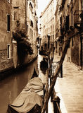 Venice. This beautiful Venice scenic is the picture of serenity. Shot on medium-format black and white film, printed as sepia-toned image, then scanned, for Stock Photos