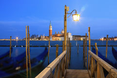 Venice. Waterway of Venice at dusk Royalty Free Stock Photo