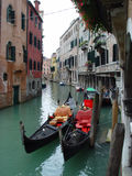 Venice. Gindoles in a venice canal Stock Photo