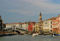 Venice. Rialto bridge Royalty Free Stock Images
