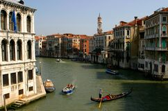Venice. Grand Canal in Venice-Italy Stock Photography