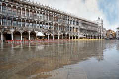 Venice. View of plaza and Doge's Palace , Venice, Italy stock photography