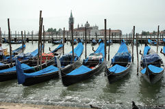 Venice. Gondolas at Venice Stock Photo