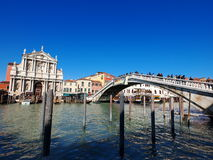 Venice. District of Santa Lucia, Venice, Italy, photo was taken in February Royalty Free Stock Images