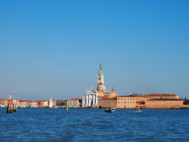 Venice. View of San Giorgio Monastery in Venice, Italy, photo was taken in February Stock Photos