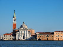 Venice. View of San Giorgio Monastery in Venice, Italy, photo was taken in February Royalty Free Stock Image