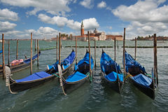 Venice. Gondolas on st. mark square in venice, italy Royalty Free Stock Image