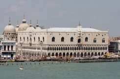 Venice 3. Ancient, boat, building, canal, church, dome, famous, historic, italy, scenic, tourism, venice, water Stock Photography