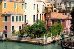 Venice. Italy. Venice. View on a small canal Royalty Free Stock Photos