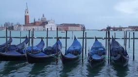 Venice. Gondola boats in Venice, Italy, and San Giorgio Maggiore