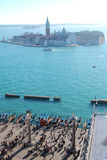 Venice. View of the venetian lagoon from the top of the tower Royalty Free Stock Photography