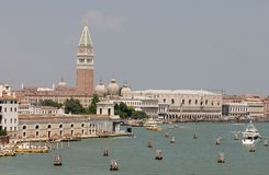 Venice 5. Ancient, boat, building, canal, church, dome, famous, historic, italy, scenic, tourism, venice, water Stock Photo