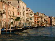 Venice. Gondolas on Canal Grande, Venice stock image