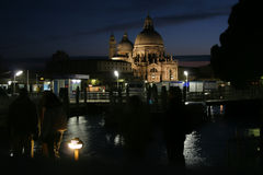 Venice. Kind of night Venice. Station of water trams Royalty Free Stock Photos
