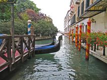 Venice. Canal with gondolas stock image