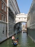 Venice. Canal with gondolas stock photos