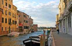 Venice. Fondamente Nove canal in Venice with the San Michele island in the distance Stock Images