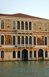 Venice. Decorative facade of house next to Grand Canal in Venice Royalty Free Stock Photos