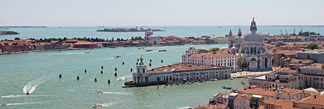 Venice. Panoramic aerial view of Venice Royalty Free Stock Photos