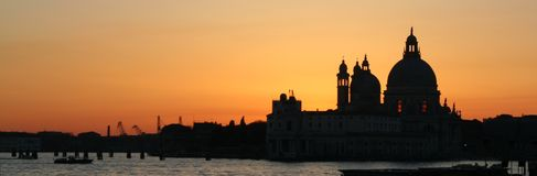 Venice. Sunset panorama - Italy stock photos