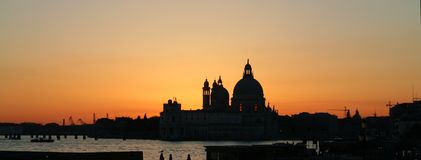 Venice. Sunset panorama - Italy stock images