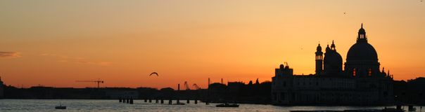 Venice. Sunset panorama - Italy royalty free stock image