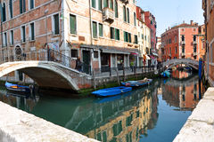 Venice. Photo of venice, his architecture, his canals and his typically vessel called gondola Stock Photography