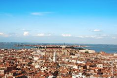Venice. Panoramic view of Venice from the tower Royalty Free Stock Photography