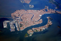 Venice from above. Aerial view of Venice, Venice, Italy Royalty Free Stock Photo