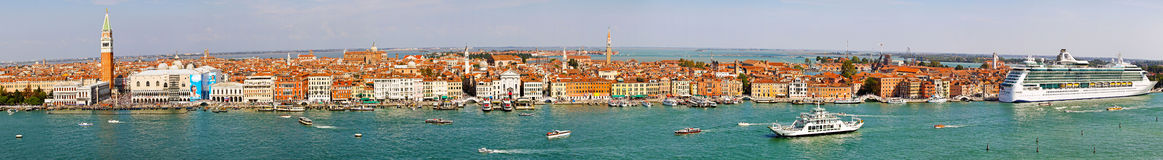 Venice aerial panorama Stock Photography