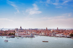 Venice aerial view, Grand Canal and santa Maria della Salute chu Royalty Free Stock Images