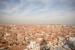 Venice. Aerial view of the Venice with Piazza San Marco Stock Image