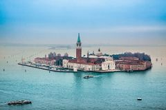 Venice from the air Royalty Free Stock Image