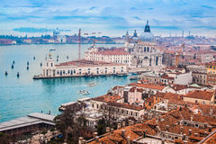 Venice from the air royalty free stock images