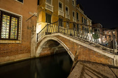 Venice alley at night Royalty Free Stock Photography