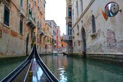 Venice alleyways. Narrow canal and alleys in Venice, Italy Royalty Free Stock Image