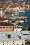Gondola wharft and pier at Plaza Royalty Free Stock Photos