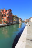 VENICE - APRIL 10, 2017: The view on Canal in Venice, on April 1. 0, 2017 in Venice, Italy Royalty Free Stock Photos