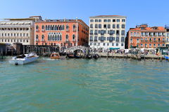 Venice - April 10, 2017: The view on Grand Canal Canal Grande,. On April 10, 2017 in Venice, Italy Royalty Free Stock Image