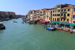 Venice - April 10, 2017: The view on Grand Canal Canal Grande,. On April 10, 2017 in Venice, Italy Royalty Free Stock Photos