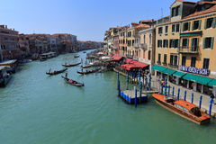 Venice - April 10, 2017: The view on Grand Canal Canal Grande,. On April 10, 2017 in Venice, Italy Royalty Free Stock Images