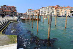 Venice - April 10, 2017: The view on Grand Canal Canal Grande,. On April 10, 2017 in Venice, Italy Royalty Free Stock Photography