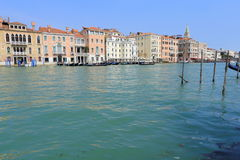 Venice - April 10, 2017: The view on Grand Canal Canal Grande,. On April 10, 2017 in Venice, Italy Royalty Free Stock Photo