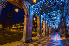 Venice architecture in Christmas Stock Images